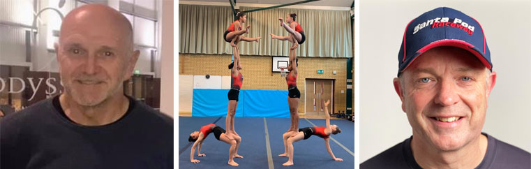 Left to right: Phil Deaves, Falcon SA Gymnastics Club, Simon Feaver